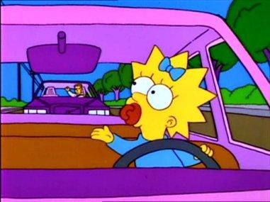 maggie simpson car