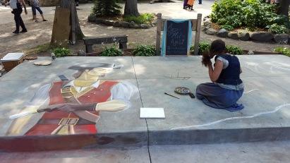 Chalk artist Magdalena daVinci creates gorgeous scenes.